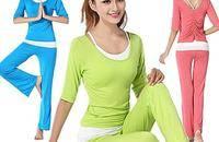 瑜伽服三件套套装夏瑜伽舞蹈服套装女练功服大码