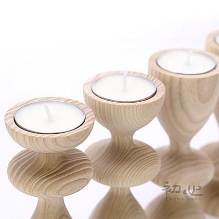 白蜡木烛台 创意蜡烛浪漫烛光晚餐家居饰品摆件