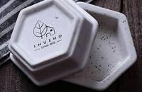 日式陶瓷斑点釉六角调味碟