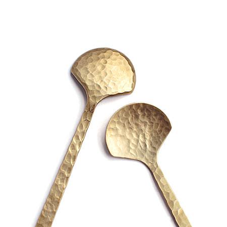 锤目纹扇形手工勺