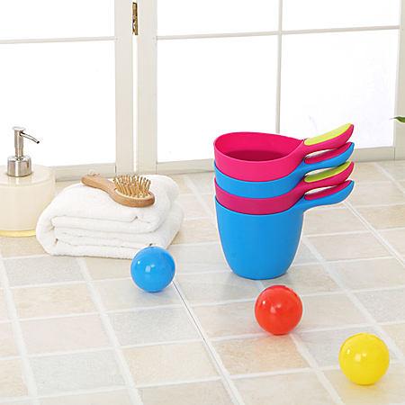 欣贝优婴儿小水勺浴勺塑料洗头杯洗发杯戏水瓢