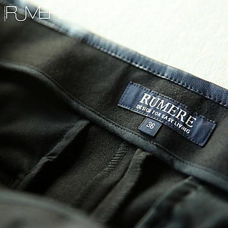 金拉链 休闲裤