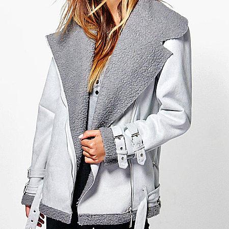 保暖皮绒夹克