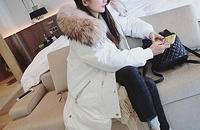 連帽大毛領羽絨服女中長款韓國寬松韓版加厚外套