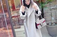 简约睡袍风羊绒大衣