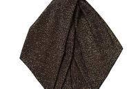 金属感针织复古金棕深色人发带发箍