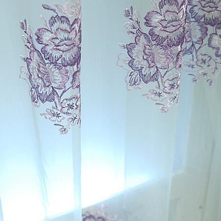 4,尚名格欧式窗帘高档客厅绣花窗纱 价格63元