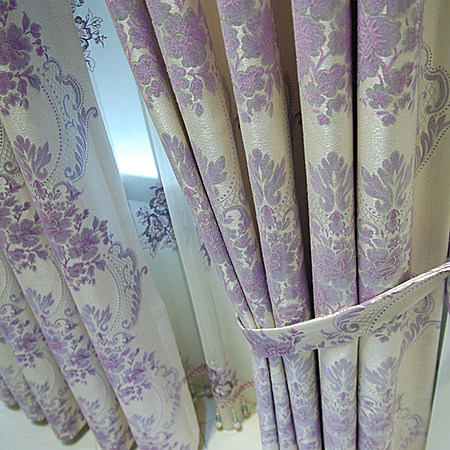 5,尚名格欧式窗帘高档客厅绣花窗纱 价格63元