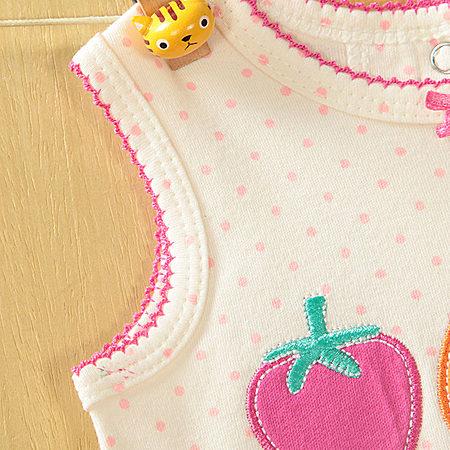无袖草莓裙子 女宝宝夏装 0-1岁婴儿夏季衣服