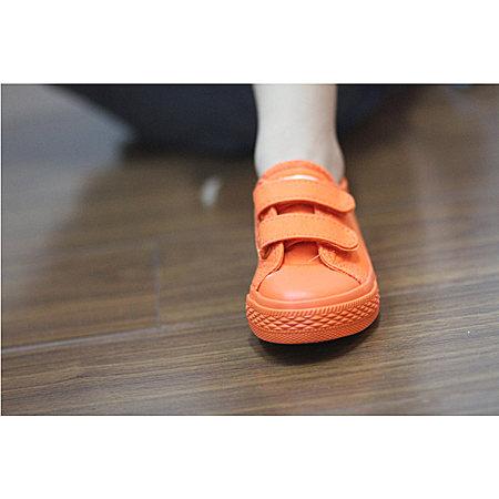 一休糖果色魔术贴宝宝单鞋板鞋女童男童鞋子