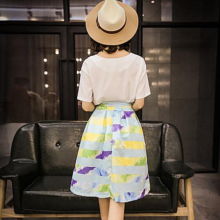 两件套印花图案连衣裙子