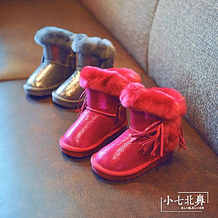 女童保暖雪地靴
