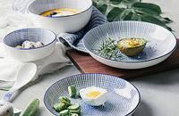 日式和风釉下彩陶瓷餐具