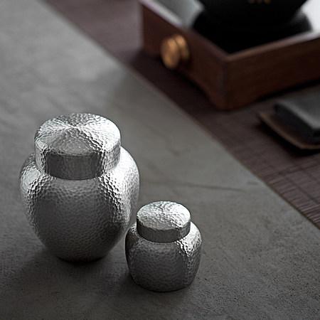 锤目纹纯锡茶叶罐