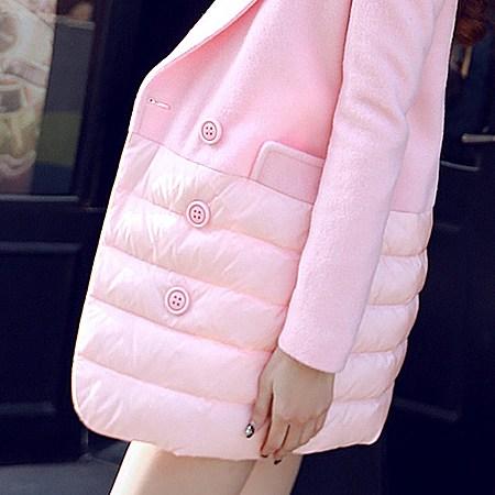 小香风茧型毛呢外套中长款羊毛呢子大衣