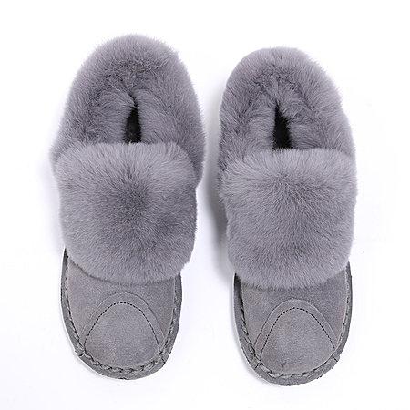 真皮兔毛雪地靴