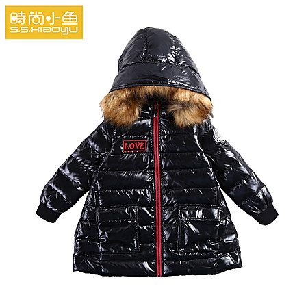 食物小鱼女童件套时尚羽绒服冬装两童装_v食物套装夹子不锈钢图片