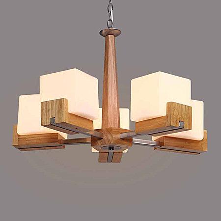 北欧现代实木吊灯