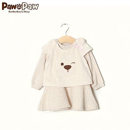 Pawinpaw女宝宝假两件连衣裙