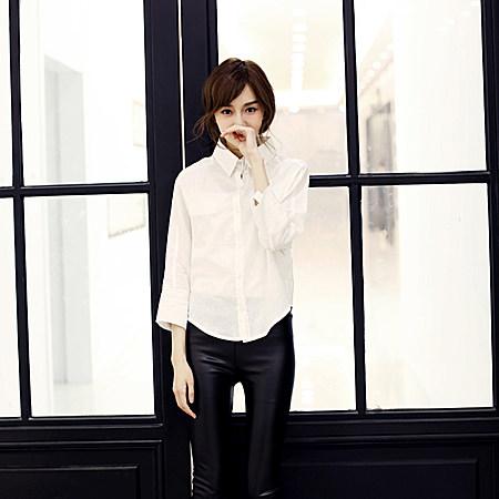 春装新款棉麻衬衫百搭白衬衫显瘦女士衬衣