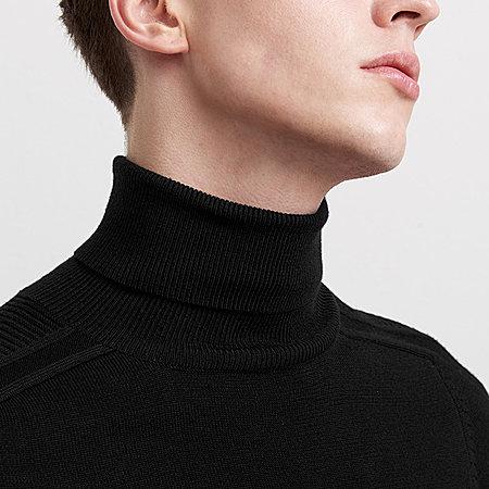 简约纯色高领毛衣