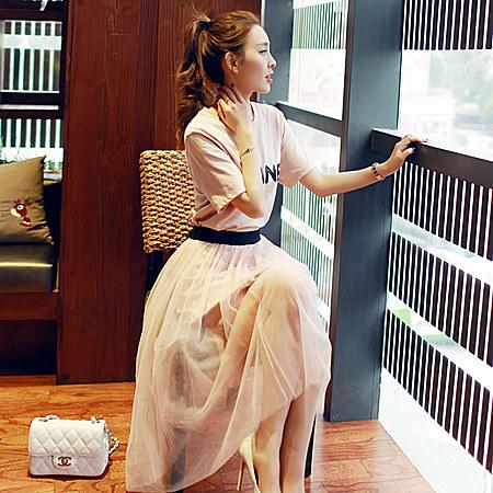 韩版女装雪纺小香风连衣裙套装两件中长款潮