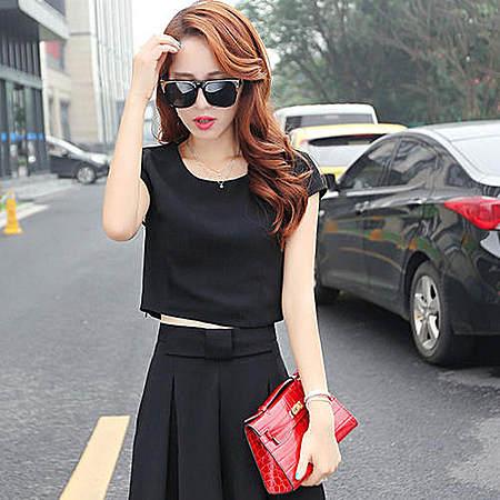 韩版时尚特大码女装两件套