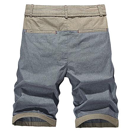 大码潮流男装休闲直筒5分亚麻牛仔沙滩五分短裤