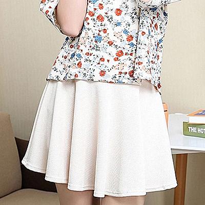 短裤裙女防走光半身裙百褶蓬蓬裙A字伞裙短裙子