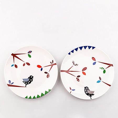 日式可爱卡通骨瓷情侣早餐盘子 牛排盘