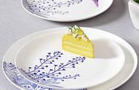 蓝调常青藤 枝蔓 纯正骨瓷 西餐餐具