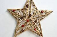 纯手工木质五角星装饰挂件