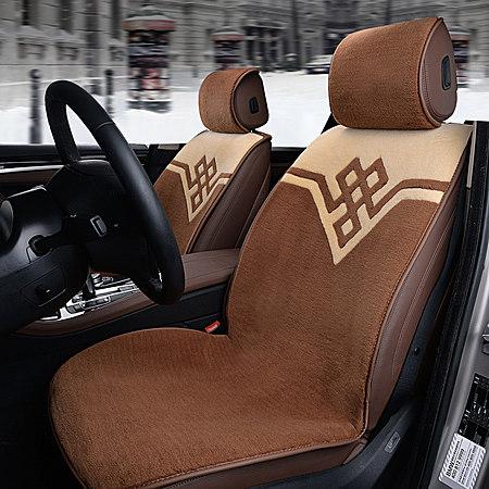 冬季纯羊毛汽车坐垫