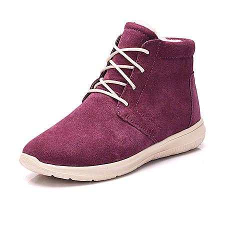 羊皮毛一体雪地靴