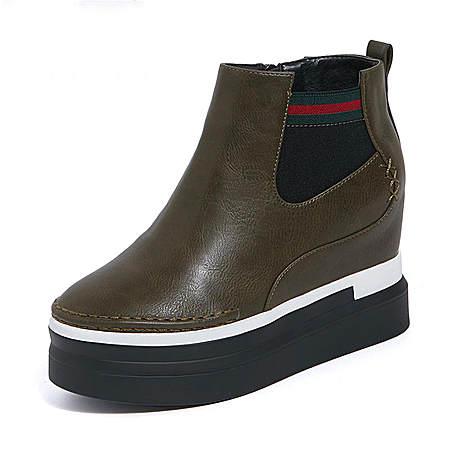 厚底内增高马丁靴