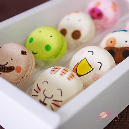 手绘马卡龙甜点8枚装 手工零食喜糖生日个性礼