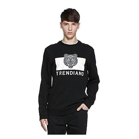 TRENDIANO棉质字母印花套头卫衣