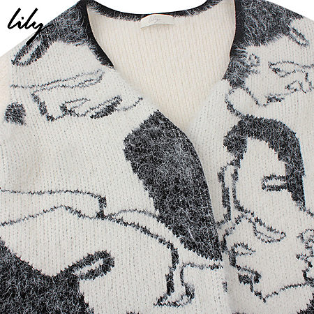 黑白舒适柔软开衫