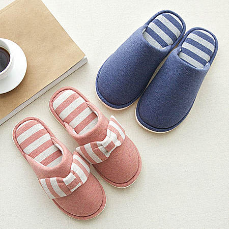 日式情侣居家保暖拖鞋