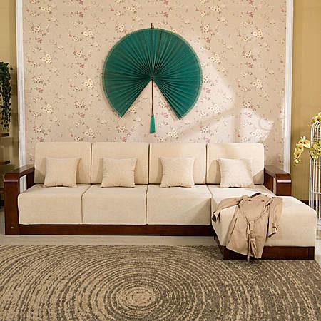 现代中式实木沙发