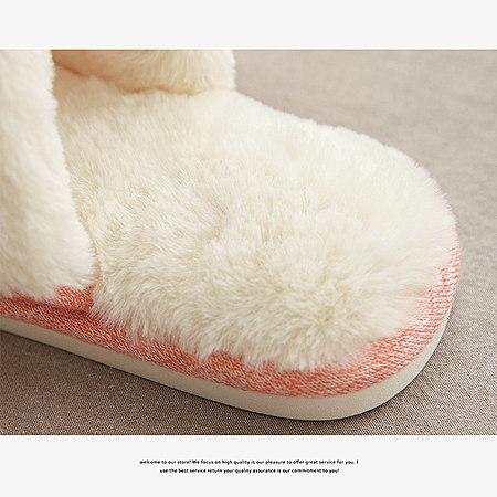 家居厚底毛绒保暖拖鞋