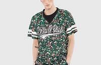 迷彩棒球服V领短袖T恤