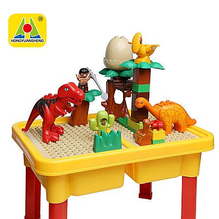 大颗粒游戏积木桌拼插套装宝宝早教儿童益智玩具