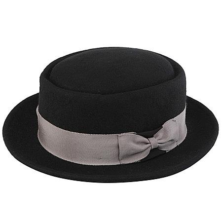 纯色复古羊毛呢帽子