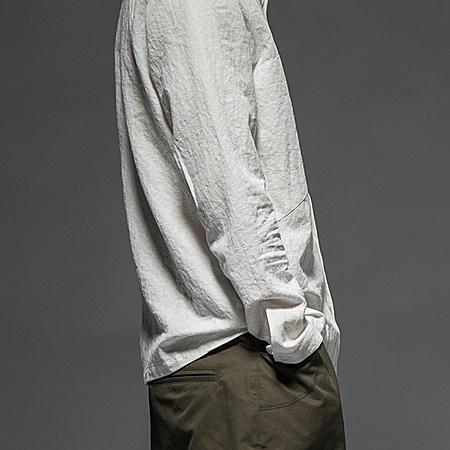 纯棉暗纹长袖衬衣