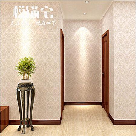 悦满宅 欧式客厅壁纸高档无纺浮雕3D立体墙纸