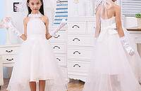夏季小婚纱花童主持人礼服女童公主裙儿童礼服