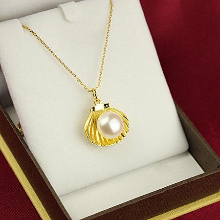 925纯银项链女款天然淡水珍珠吊坠母亲节送妈妈