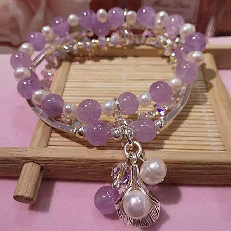 原创天然紫晶手链