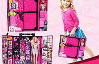 芭比娃娃甜甜屋套裝禮盒夢幻衣櫥柜女孩玩具